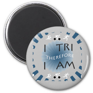I Tri Therefore I am Triathlon Magnet
