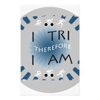 I Tri Therefore I am Triathlon Stationery