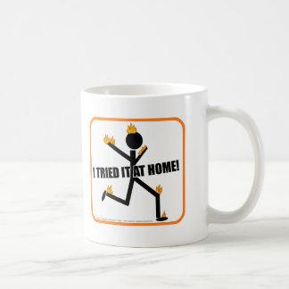 I Tried It At Home Funny Stunts Basic White Mug