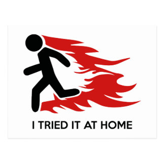 I Tried It At Home Postcard