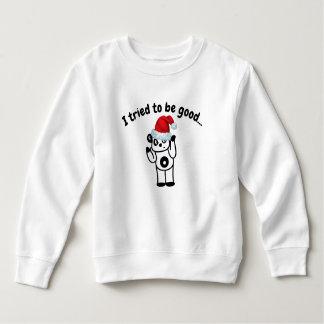 I Tried to Be Good Santa Panda Toddler T-Shirt