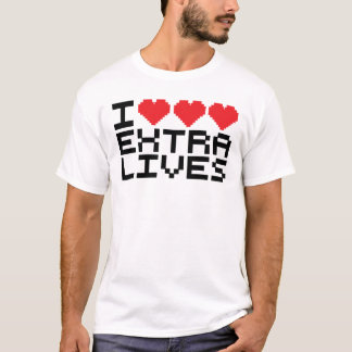 I Triple Heart Extra Lives T-Shirt