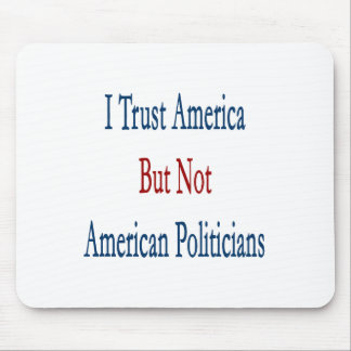i trust america but not american politicians mouse pad