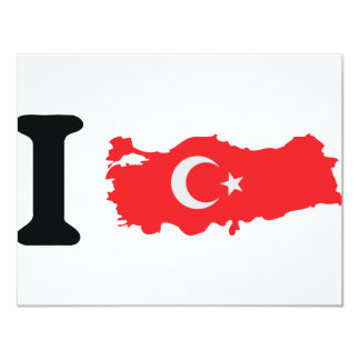 I turkey icon 11 cm x 14 cm invitation card