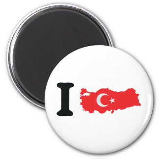 I turkey icon 6 cm round magnet