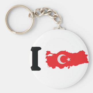 I turkey icon basic round button key ring