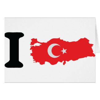 I turkey icon greeting card