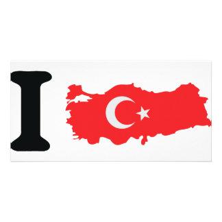 I turkey icon photo card template