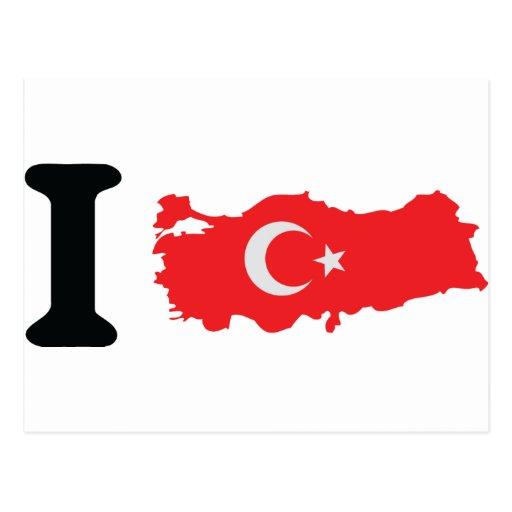 I turkey icon postcard