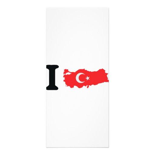 I turkey icon full color rack card