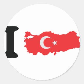 I turkey icon round sticker