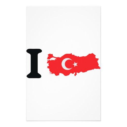 I turkey icon customized stationery