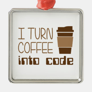 I Turn Coffee Into Programming Code Christmas Ornament