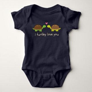 i turtley love you baby grow baby bodysuit