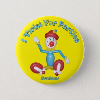 I Twist for Parties Button Clown Balloon
