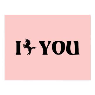 I Unicorn You (Black) Postcard