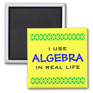 I USE ALGEBRA IN REAL LIFE SQUARE MAGNET