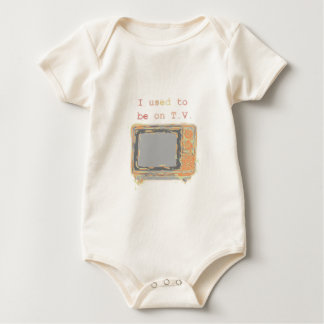 """I used to be on T.V."" Baby Bodysuit"