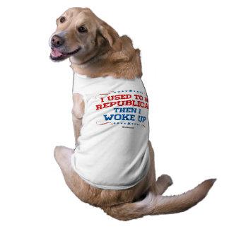 I used to be Republican, then I wokeup Sleeveless Dog Shirt