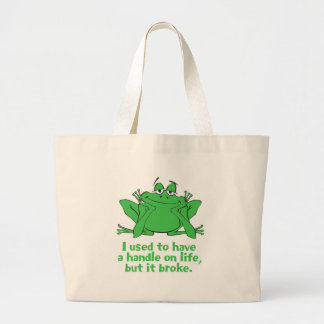 I Used to Have a Handle on Life Jumbo Tote Bag