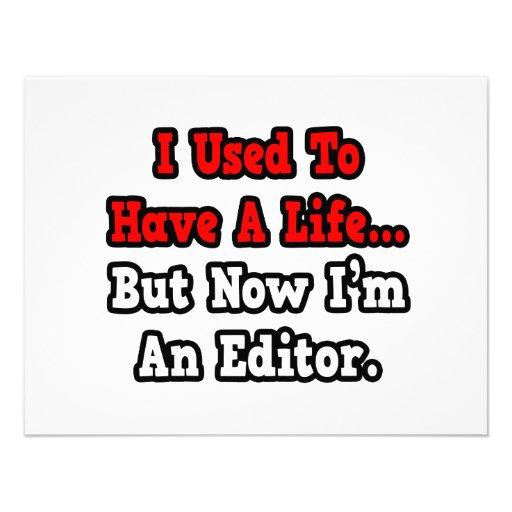 I Used to Have a Life...Editor Invitation