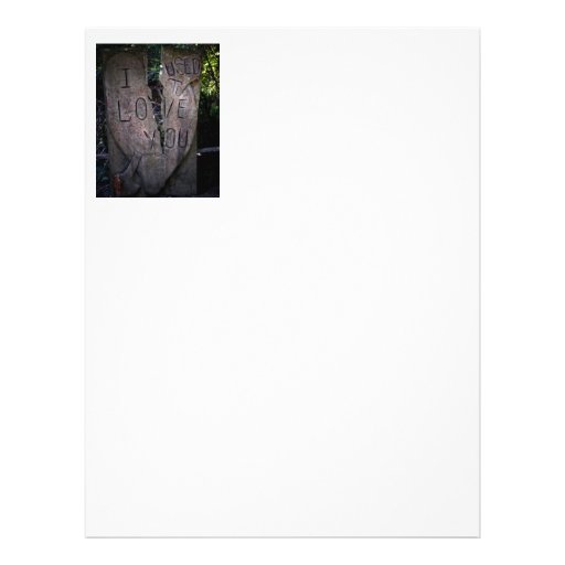 I Used to Love You - Tree Carving Personalized Flyer