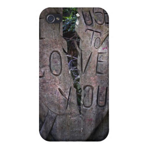 I Used to Love You - Tree Carving Cases For iPhone 4