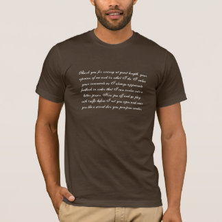 I value your comments apparel T-Shirt