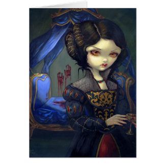 I Vampiri Bellissimo Letto Greeting Card