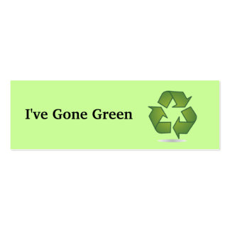 I ve Gone Green Bookmark Business Card Template