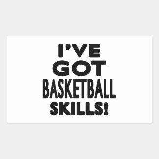 I ve Got Basketball Skills Rectangular Stickers