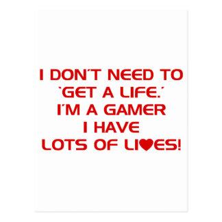 I ve Got Lots Of Lives - Gamer Gaming Video Games Postcard