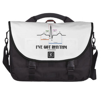 I ve Got Rhythm ECG EKG Electrocardiogram Laptop Commuter Bag