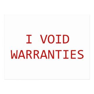 I Void Warranties Post Cards