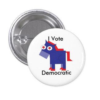 I Vote Democratic 3 Cm Round Badge