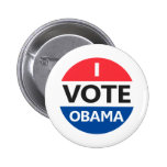 I Vote Obama Buttons