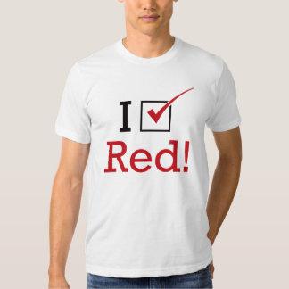 I Vote Red Tee Shirt