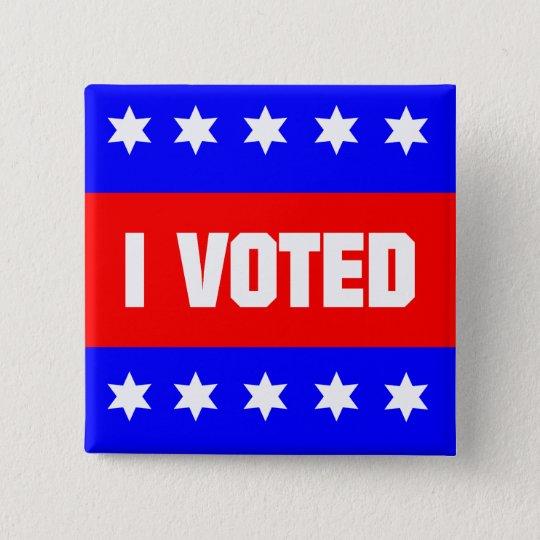 I Voted 15 Cm Square Badge