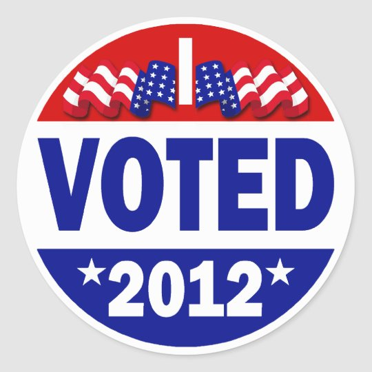 I Voted 2012 Classic Round Sticker