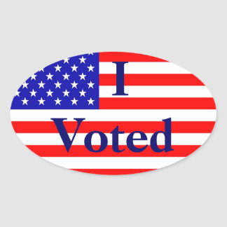 I Voted American Flag Election Stickers