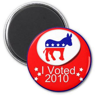 I Voted Democratic in 2010! 6 Cm Round Magnet