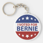 I Voted For Bernie Key Ring