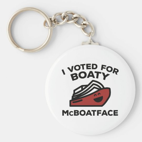 I Voted For Boaty McBoatface Basic Round Button Key Ring