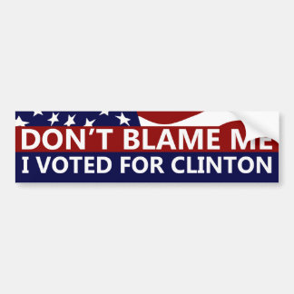 I Voted For Clinton Bumper Sticker