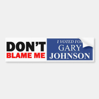I voted for GARY JOHNSON Bumper Stickers