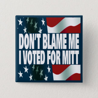 I Voted For Mitt 15 Cm Square Badge