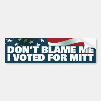 I Voted For Mitt Bumper Sticker