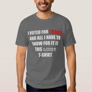 I voted for Obama and all I have to show for it is T-shirt