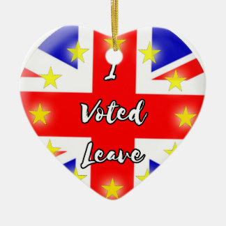 i voted leave christmas ornament