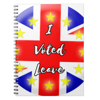 i voted leave notebooks